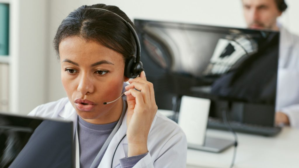 Call handler with headset