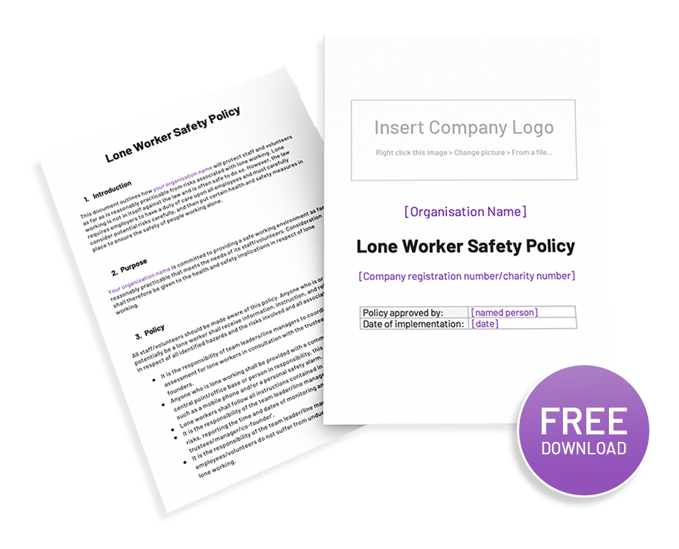 Lone Worker Policy Template